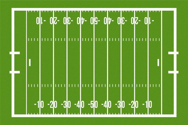 Amerikanisches fußballfeld mit flachem design