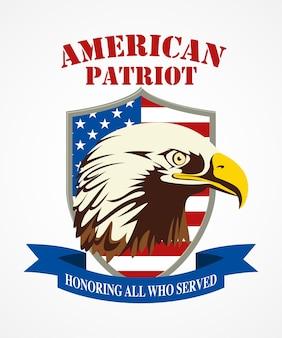 Amerikanisches patriot-wappen