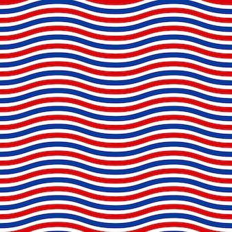 Amerikanisches patriotisches nahtloses muster in den amerikanischen nationalfarben