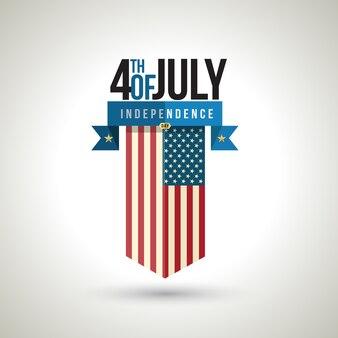 Amerikanisches unabhängigkeitstag-fahnendesign
