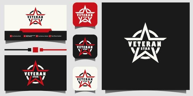Amerikanisches veteranenschild patriotisches nationales logo