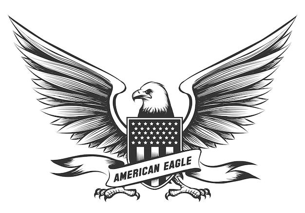 Amerikanisches weißkopfseeadler-emblem