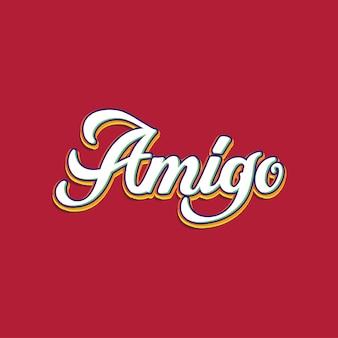 Amigo handlettering typografie