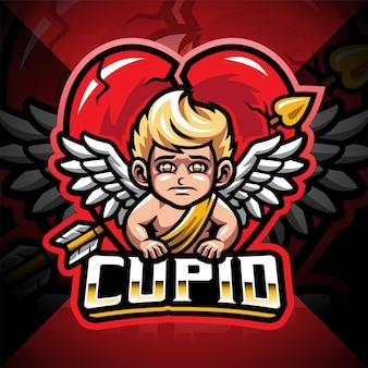 Amor-esport-maskottchen-logo-design