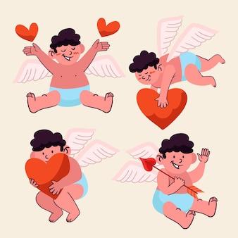 Amor handgezeichneter zeichensatz