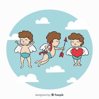 Amor himmel valentinstag hintergrund