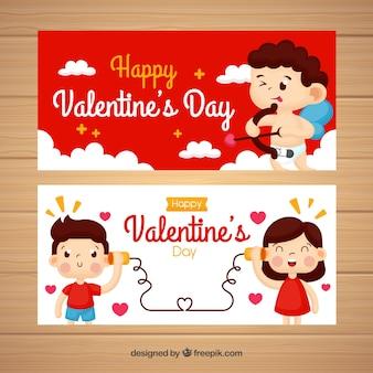 Amor und paar valentinstag banner