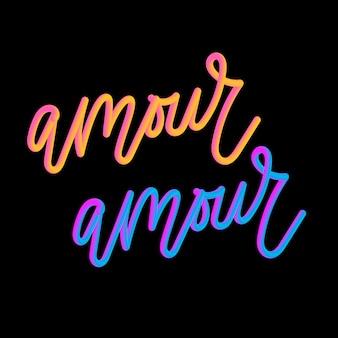 Amour 3d-slogan