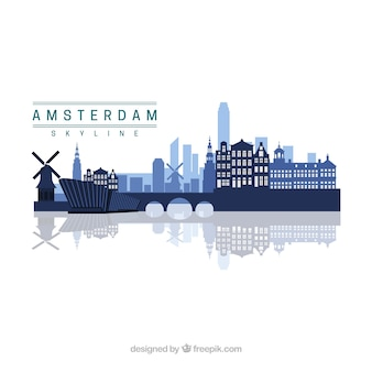 Amsterdam skyline design