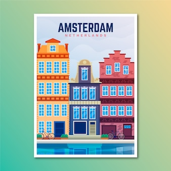 Amsterdam urlaubsreiseplakat