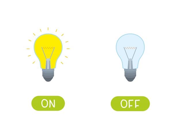 An und aus. illustration für kinder als lehrmittel