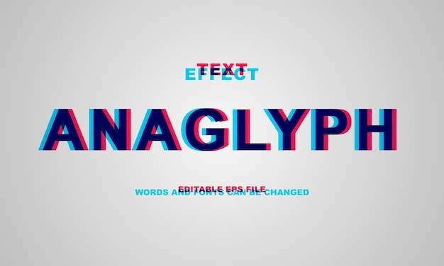 Anaglyph-text-effekt