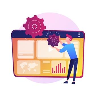 Analyse der internetwerbung. seo, marketing, berichte infografiken. digitale werbung, werbung in sozialen netzwerken. promo für videoinhalte.
