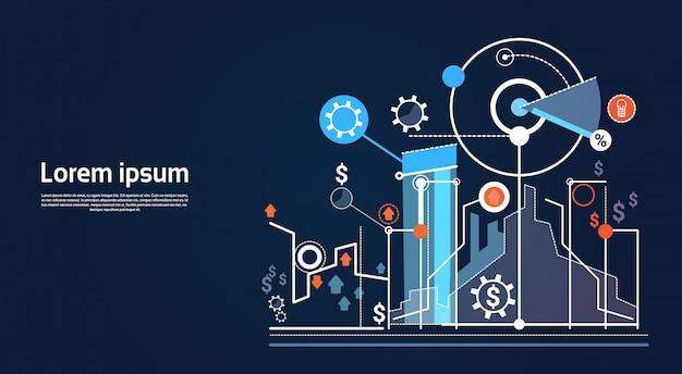 Analyse-finanzdiagramm finanzgeschäftsdiagramm