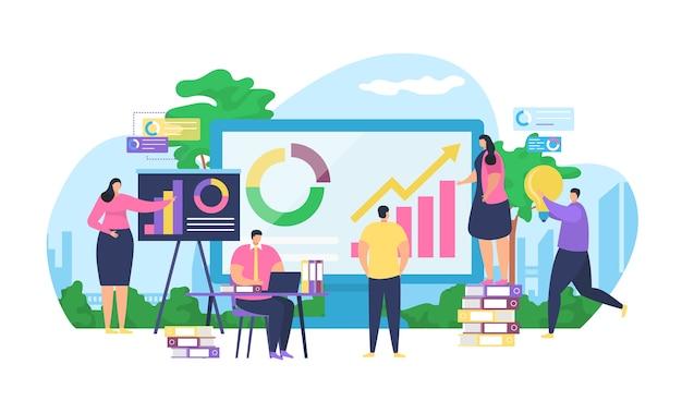 Analyse und marketing der geschäftsstrategie