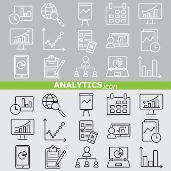 Analytics-symbole leitungssatz