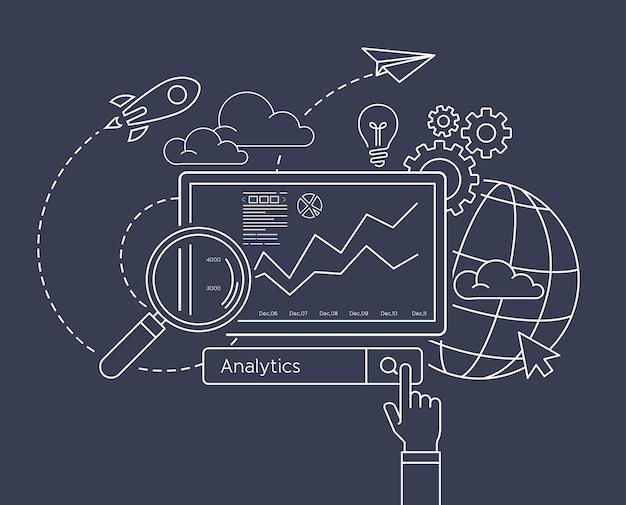 Analytische suche informationen website-optimierung