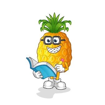 Ananas-geek-karikatur