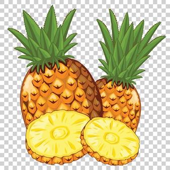 Ananas getrennt auf transparentem
