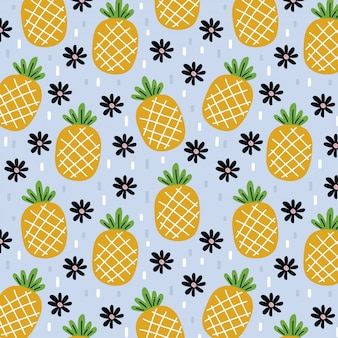 Ananas muster des sommers