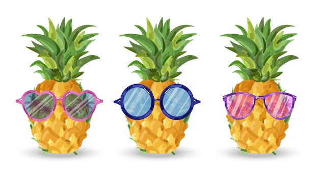 Ananas-muster-plakate