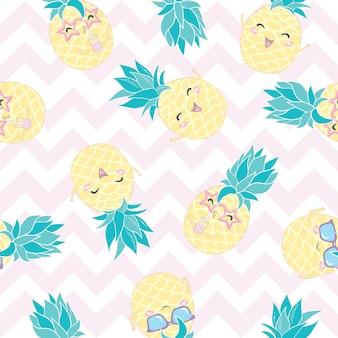 Ananas nahtloses muster