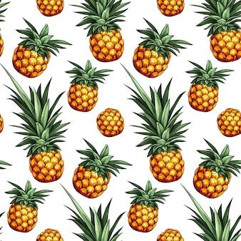 Ananas nahtloses muster.