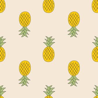 Ananas niedlicher nahtloser musterhintergrund für kindertextilien. vektor-illustration eps10