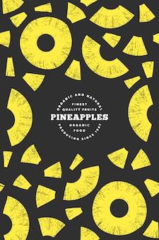 Ananas stücke rahmen