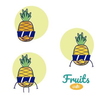Ananas süße früchte cartoons