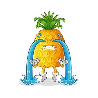 Ananas weinende illustration