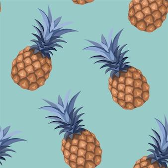 Ananasmuster. nahtlose textur.