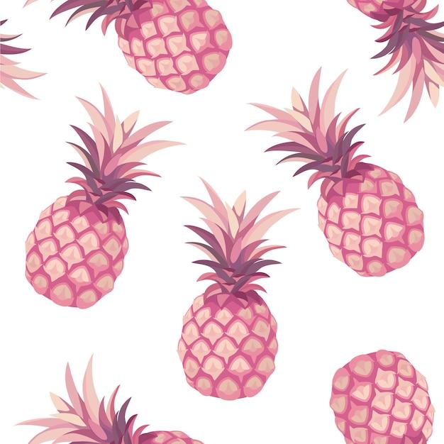 Ananasmuster. nahtloses muster.