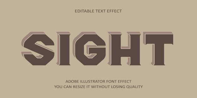 Anblick editierbarer text schrift effekt