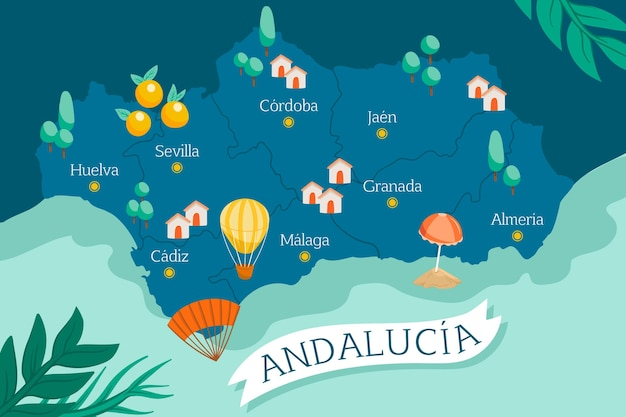 Andalusien karte mit sehenswürdigkeiten