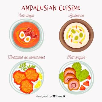 Andalusische speisen eingestellt