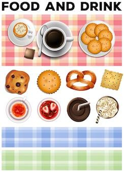 Andere art von essen und getränken