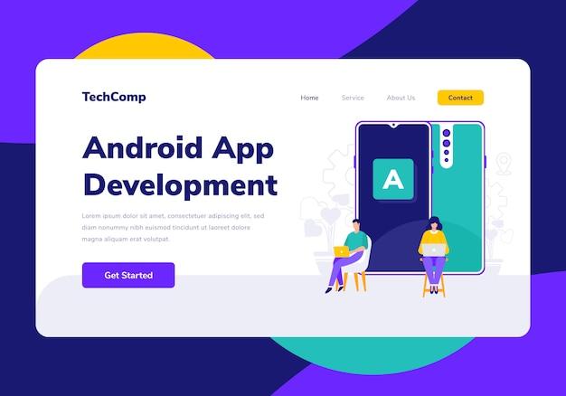 Android app development landing page vorlage
