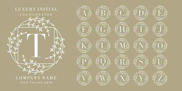 Anfängliches blumenrahmen-logo