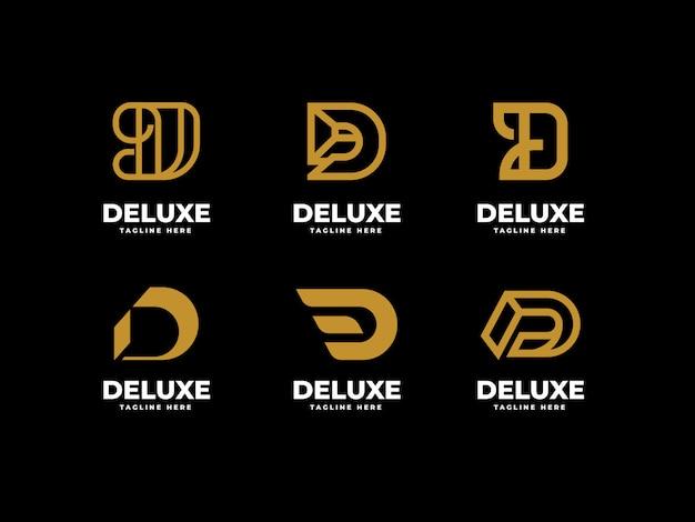 Anfängliches d-logo-vorlagenset