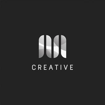 Anfängliches design der m-logo-vorlage. illustration. abstrakte anfängliche m web icons und logo.
