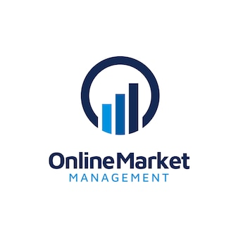 Anfängliches o & statistik-business chart bar-logo