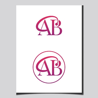 Anfangs-brief-logo-design vector templet