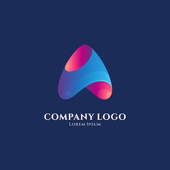 Anfangsbuchstabe a oder pfeil-logo-vorlage
