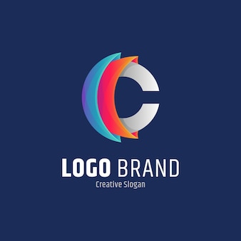 Anfangsbuchstabe c abstrakte logo-design-vorlage
