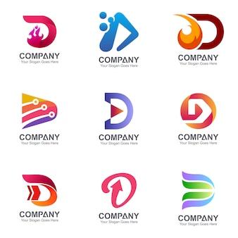 Anfangsbuchstabe d logovorlagensammlung
