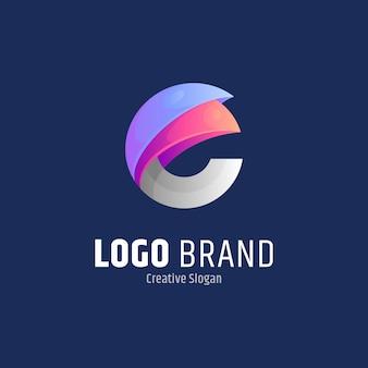 Anfangsbuchstabe e abstrakte logo-design-vorlage