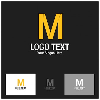Anfangsbuchstabe m logo vector