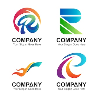 Anfangsbuchstabe r logo-set