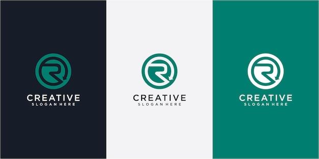 Anfangsbuchstabe r mit inspiration für das design des recyclingpfeil-logos. r buchstabe pfeil logo symbol vektor vorlage